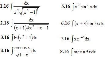 Вариант 16 ИДЗ 8.3 8 интегралов